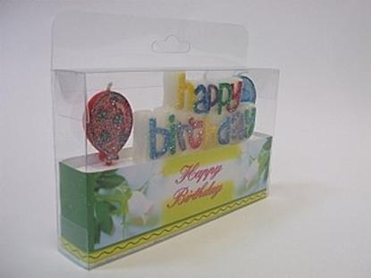 תמונה של נר יום הולדת בלונים