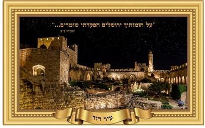Picture of פלקט תלת מימד 45*68 עיר דוד