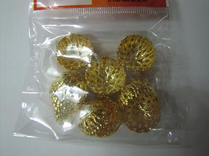תמונה של 18 כנים זהב גדולים לחנוכיה
