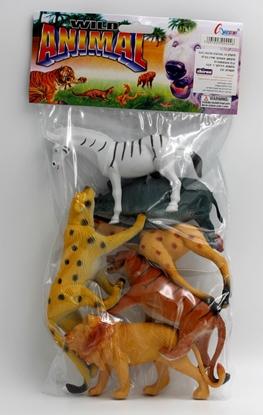 תמונה של 6 חיות בר גדול בשקית